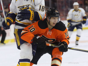 "In 79 games this season, Brayden Schenn has recorded 45 points, which continue to eclipse his career-high point totals. (<a href=""https://www.facebook.com/38Photography"">Amy Irvin</a> / The Hockey Writers)"