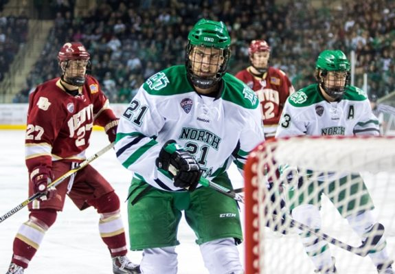UND forward Brendan O'Donnell (Peter Bottini, UND Athletics)