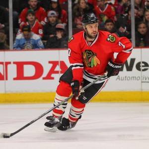 Brent Seabrook takes on some of the toughest assignments on the Blackhawks (Dennis Wierzbicki-USA TODAY Sports)