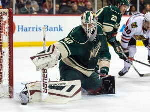 Devan Dubnyk has been a brick wall for Minnesota. Since joining the team back in January, Minnesota hasn't lost more than two straight. (Brace Hemmelgarn-USA TODAY Sports)