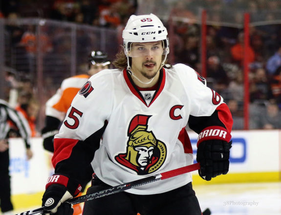 (photo: Amy Irvin) Erik Karlsson stepped up with a power-play goal on Sunday, albeit in a losing cause for his Ottawa Senators. For my fantasy team, it was enough to win $60 as the third-place finisher in playoffs.