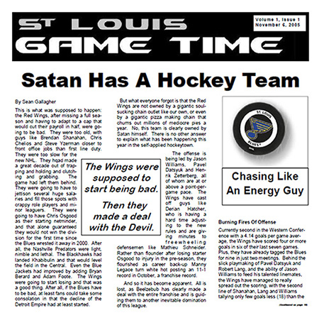 The first official issue of St. Louis Game Time (Courtesy Brad Lee / St. Louis Game Time)