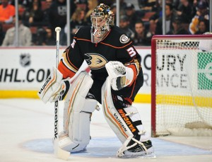 John Gibson of the Anaheim Ducks