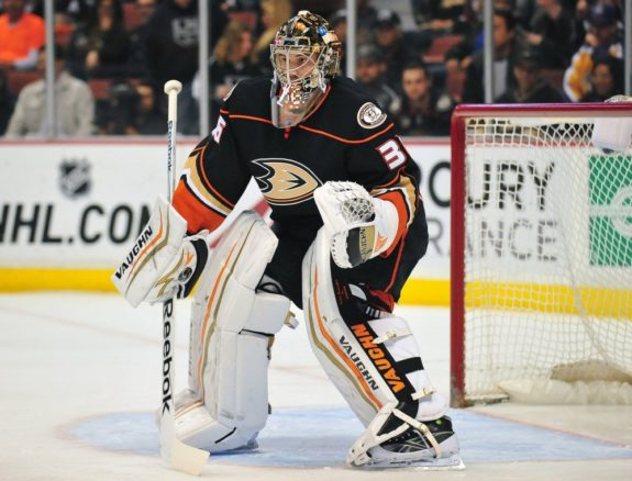 "(Gary A. Vasquez-USA TODAY Sports) John Gibson is definitely the best goaltender missing from the above list. That's because the Anaheim Ducks traded for Anton Khudobin to serve as Frederik Andersen's backup while allowing Gibson to further develop in the minors. Of course, an injury could change all of that, but hold off on drafting Gibson unless you're willing to ""waste"" a bench spot on him in hopes he'll get that opportunity."