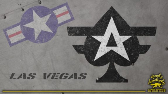 Las Vegas Aces Primary Logo on light surface [photo: sparky chewbarky]