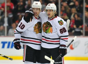 The Blackhawks were featured on NBC this past week, not the Stadium Series contest (Gary A. Vasquez-USA TODAY Sports)