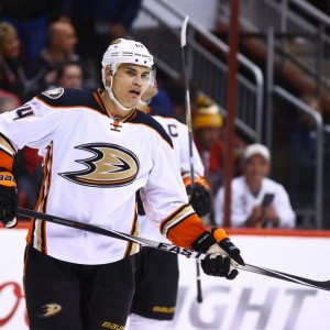 Former-Anaheim Ducks forward Rene Bourque