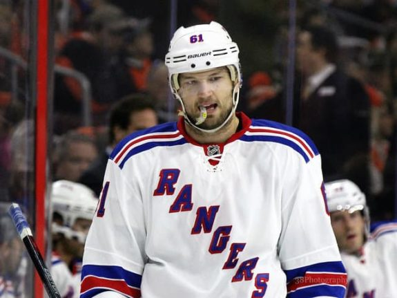 [photo: Amy Irvin] Will Rick Nash still be wearing a Rangers jersey when next season starts? Or will New York move Nash between now and then? It's going to be an eventful offseason for the Blueshirts.
