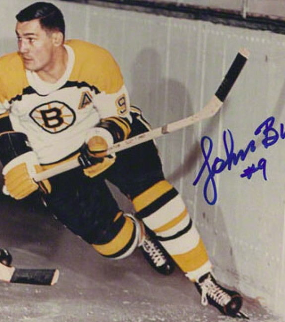 Johnny Bucyk scored his 23rd of the season for Boston.