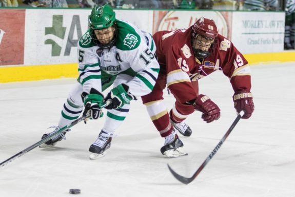 UND forward Michael Parks (Peter Bottini, UND Athletics)