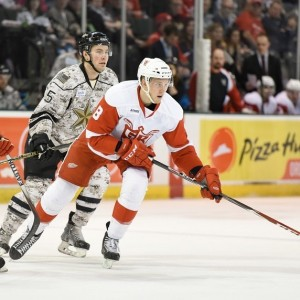 Mantha has started his third AHL season with six goals in five games. (Michael Connell/Texas Stars Hockey)