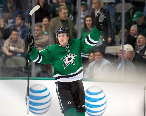 Rookie Brett Ritchie has already gotten a taste of top line duties in Dallas (Jerome Miron-USA TODAY Sports)
