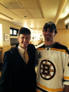 Bruins broadcaster Jack Edwards has been a big influence and great teacher to Close over the years.