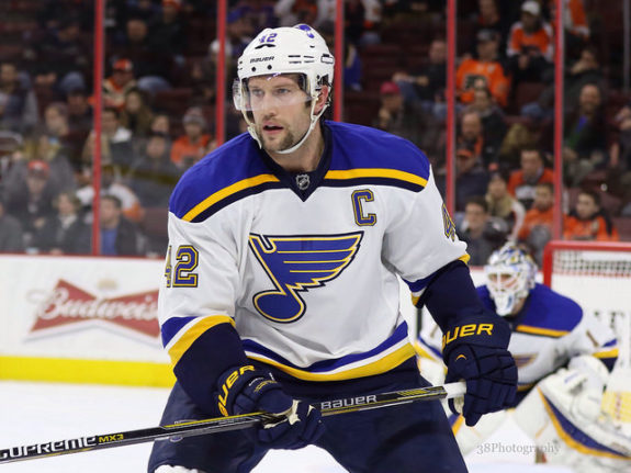 Backes became a defensive stalwart under Hitchcock (Amy Irvin / The Hockey Writers)