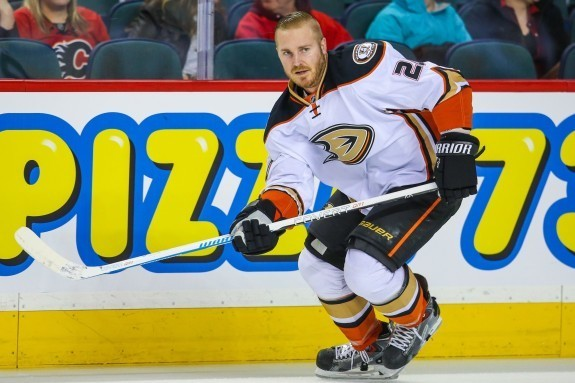 James Wisniewski is in his 2nd tour of duty in Anaheim. (Sergei Belski-USA TODAY Sports)
