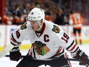 Kyle Connor plays a similar style to Jonathan Toews of the Chicago Blackhawks [photo: Amy Irvin]