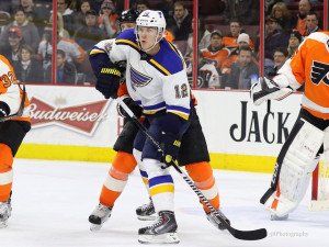 (Amy Irvin/The Hockey Writers) Nobody really knew where Jori Lehtera would slot into the St. Louis Blues' depth chart despite centering Vladimir Tarasenko in Russia during years past. Turns out, that chemistry was easily rekindled and they both reaped the benefits this season.