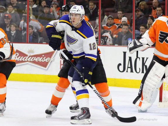 Lehtera scored 14 goals and 44 points in his first NHL season (Amy Irvin / The Hockey Writers)