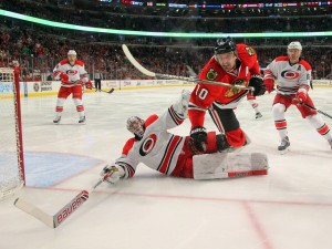 Cam Ward, Carolina Hurricanes goalie  (Dennis Wierzbicki-USA TODAY Sports)