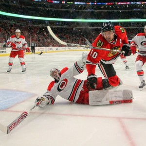 Canes goalie Cam Ward (Dennis Wierzbicki-USA TODAY Sports)