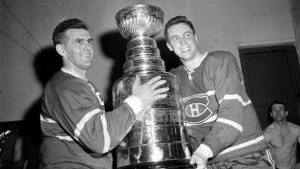 Montreal Canadiens legends Maurice Richard and Jean Beliveau