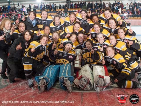 Your 2015 Clarkson Cup champion Boston Blades! (Brandon Taylor/CWHL)