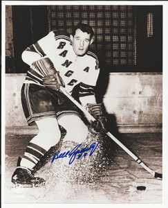 Bill Gadsby with the Rangers.