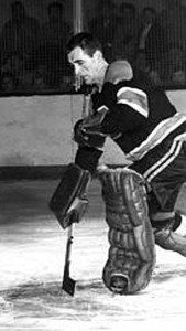 """Long"" John Henderson, NHL Oldtimers goalkeeper."