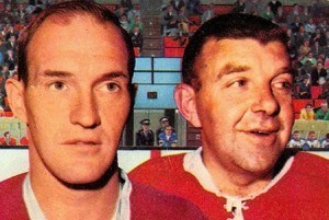 Charley Hodge and Gump Worsley alternated throughout the game.