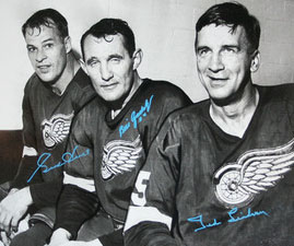 Detroit's veteran core of Gord Howe, Bill Gadsby and Ted Lindsay.