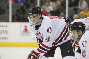 Megna with his college club Nebraska-Omaha. Photo Credit: (Tim Fitzgerald/Omaha Athletics)