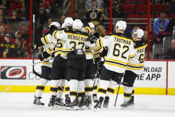 Will the Bruins be celebrating at the start of the season, or will the first couple games bring the blues to Boston? (James Guillory-USA TODAY Sports)