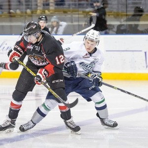 Jansen Harkins has been a physical force early in his second WHL season (Brian Liesse/WHL)