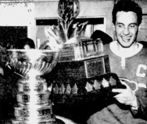 Jean Beliveau, winner of the first Conn Smythe Trophy.