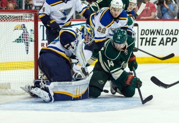 The Blues have a long offseason ahead after a third straight first round exit, this time at the hands of the Minnesota Wild. (Brace Hemmelgarn-USA TODAY Sports)
