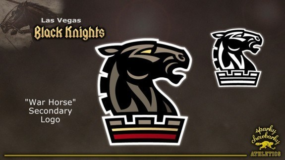 Las Vegas Black Knights secondary logo [photo: sparky chewbarky]