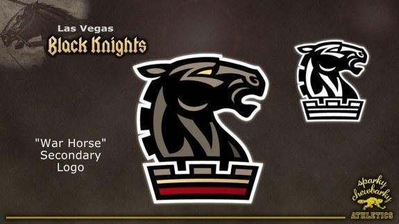 Las Vegas Black Knights secondary logo [photo: sparky chewbarky]