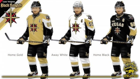 Las Vegas Black Knights concept jerseys [photo: sparky chewbarky]