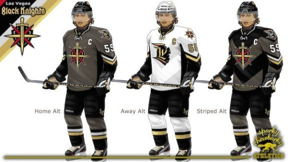 Las Vegas Black Knights concept jerseys [photo: sparky chewbarky]