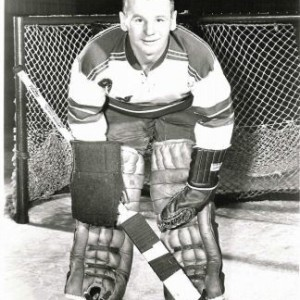Johnny Bower with the Rangers.