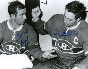 Dick Duff and Jean Beliveau.