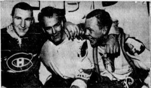 Montreal goal-getters Ferguson, Richard, Cournoyer.