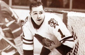 Glenn Hall's goaltending gave Chicago their win over Detroit.