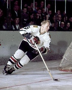 Bobby Hull carrying the Hawks.