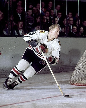 Bobby Hull was off to a record-setting year before being slowed by injuries.