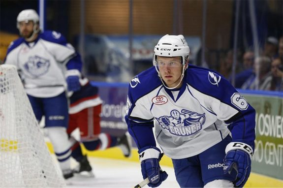 Slater Koekkoek of the Syracuse Crunch (Scott Thomas/Syracuse Crunch)