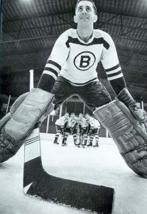 Cesare Maniago, who played for Minneapolis of the CPHL on loan from Montreal.