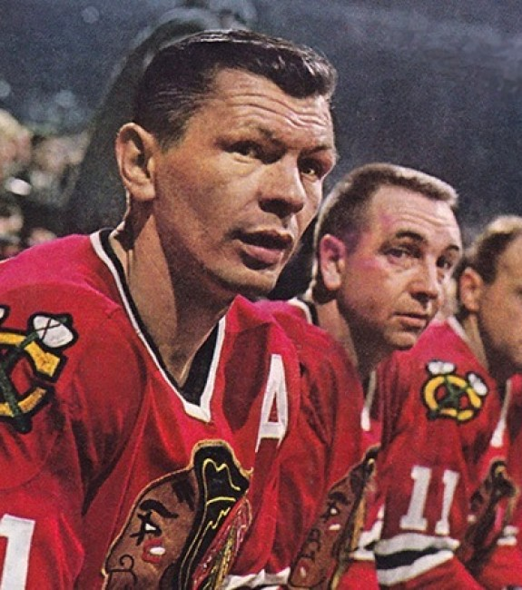 Stan Mikita, Ken Wharram, Doug Mohns