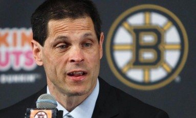 Bruins General Manager Takes in Oilers/Flames Affair