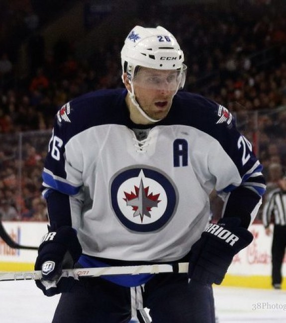 Blake Wheeler of the Winnipeg Jets [photo: Amy Irvin]